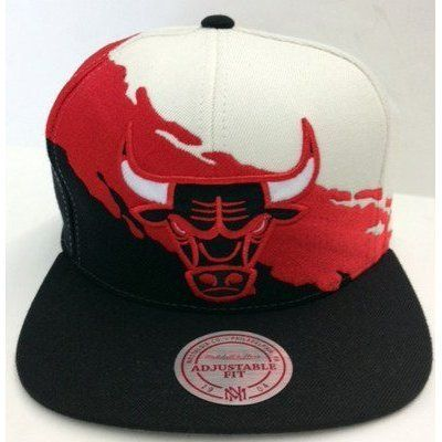 sale retailer f1862 ae88a Chicago Bulls Mitchell   Ness Paint Splash Snapback Cap Hat JORDAN PIPPEN  KERR .  29.99. Brand new retro snapback cap. Embroidered team logos.