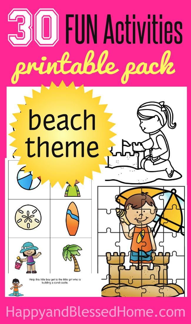 FREE 27 Page Beach Activity Pack - Bring the Tropics Home | T\'s baby ...