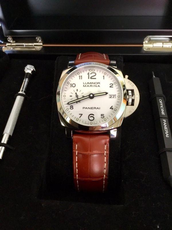 info for 70162 9e1ad PANERAI Luminor 1950 Automatic White Dial Wrist Watch ...