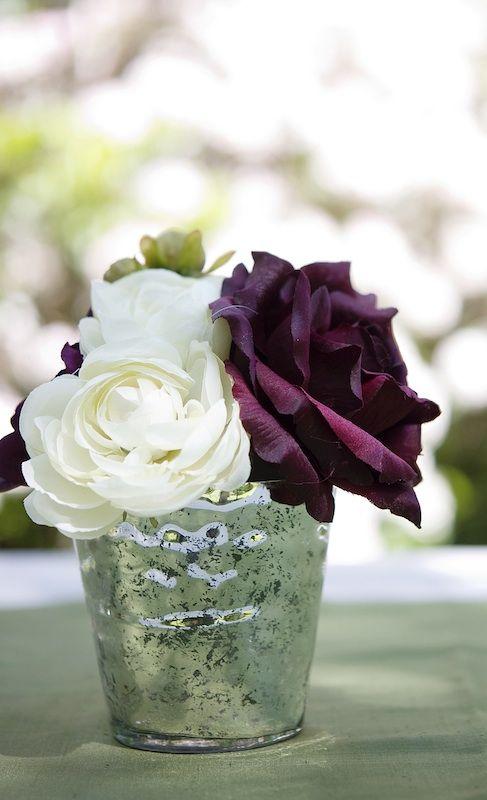 Egg Plant Color Wedding Eggplant Rose Centerpiece Idea Afloral