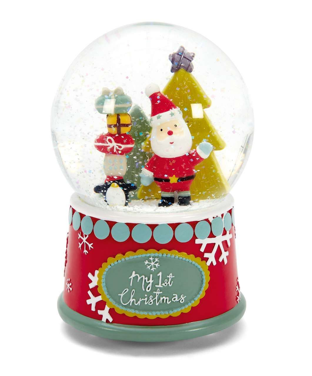 My First Christmas Snow Globe - Baby's First Christmas Present ...