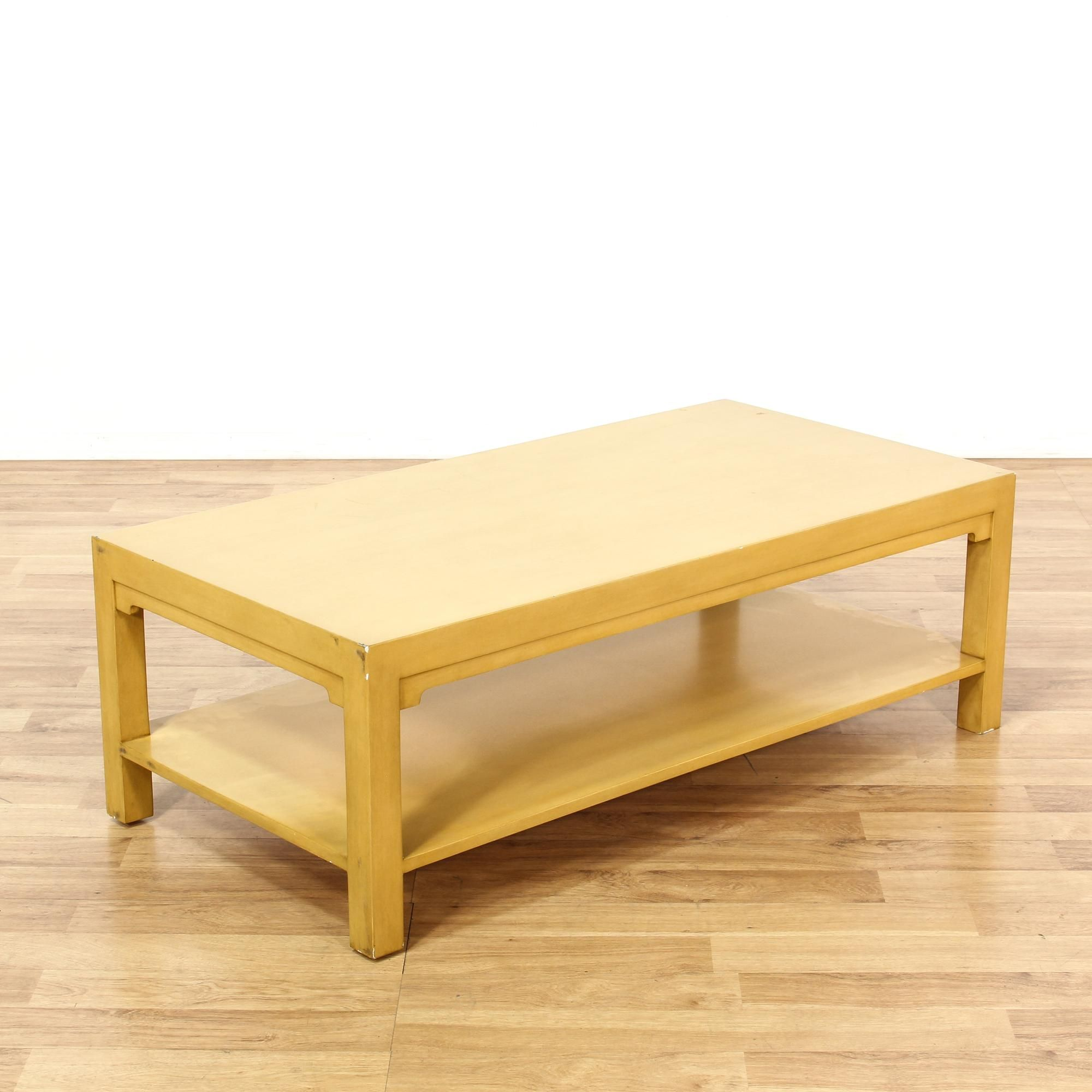 This Contemporary Coffee Table Is Featured In A Solid Wood With Light Blonde Finish