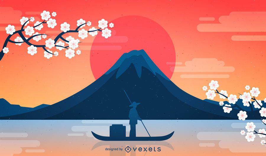 Get Japanese Illustration Background Background