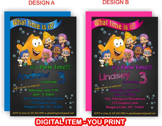 YOU PRINT  Personalized Bubble Guppies Birthday by TAGSRUSCANADA