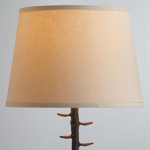 21f40381840 Off-White Cotton-Linen Table Lamp Shade