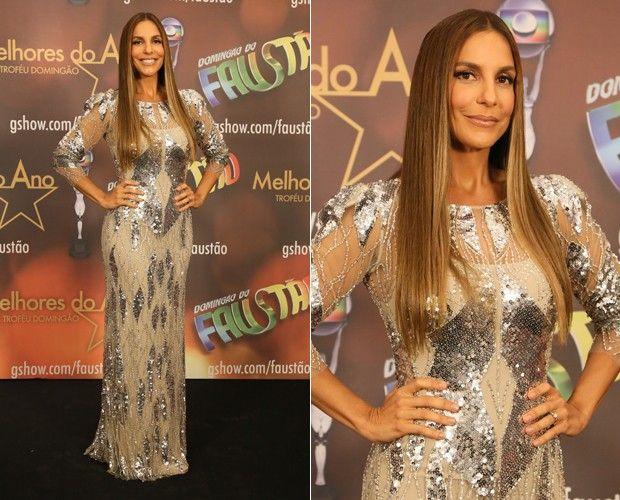 Ivete arrasa com vestido longo e brilhoso (Foto: Carol Caminha / TV Globo)