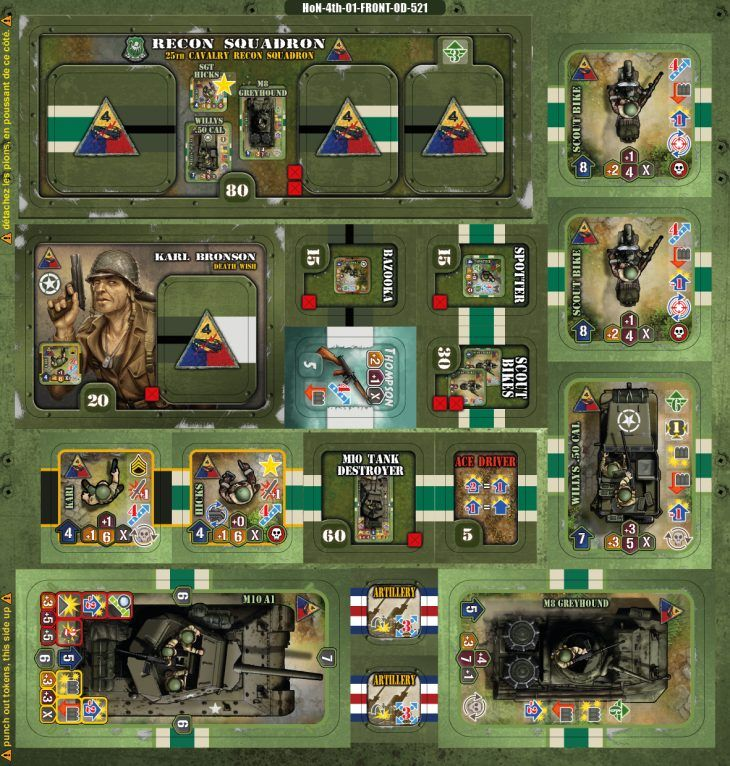 US 4th armored division Armor, Pig games, Scout bike