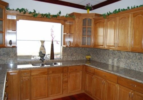 kitchen backsplash with oak cabinets decorating ideas kitchens oak