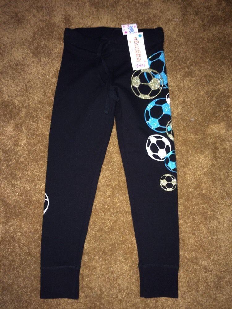 b538df8df08814 NWT Size 6 Justice Girls Cuff Leggings Stretch Pants MSRP $29.90 Black  Soccer #Justice #LeggingsJeggings #Everyday