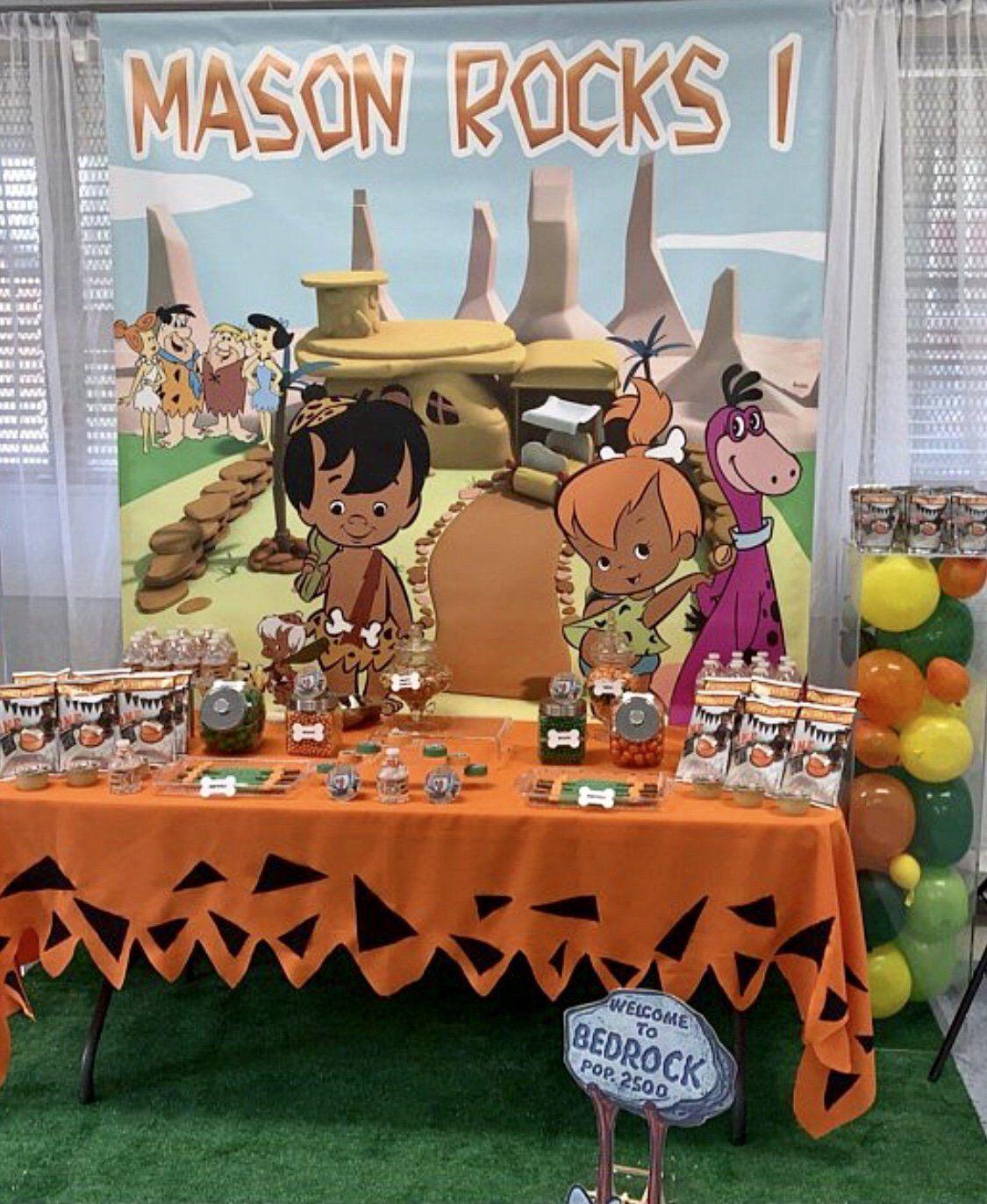 The Flintstones Party Backdrop African American