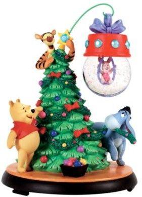 Disney Christmas Snow Globes.Disney Winnie The Pooh Christmas Ornament Snow Globe