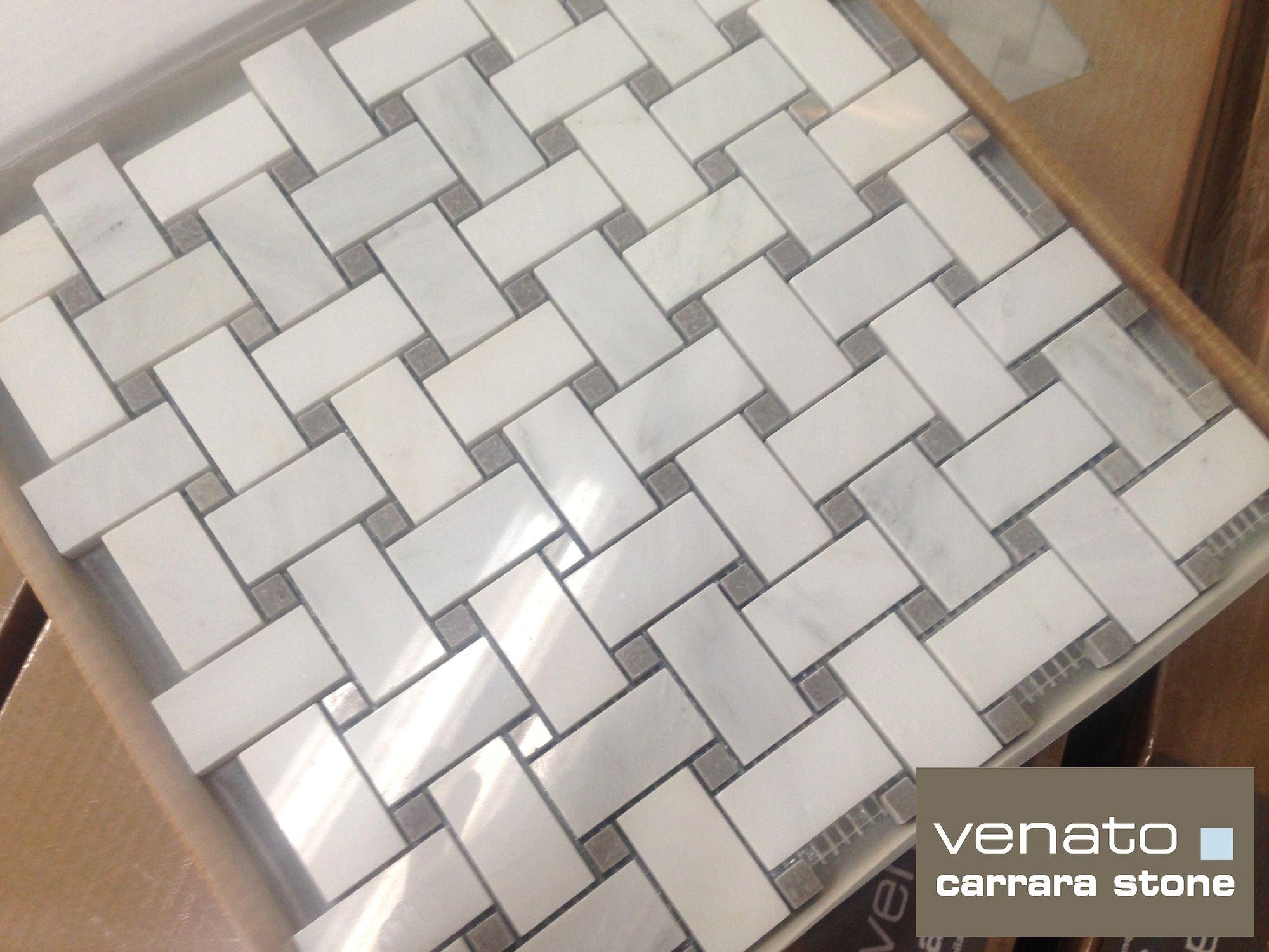 Stunning Basket Weave Tile For Classic Bathroom Design: Carrara ...