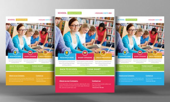Professional education poster templates design