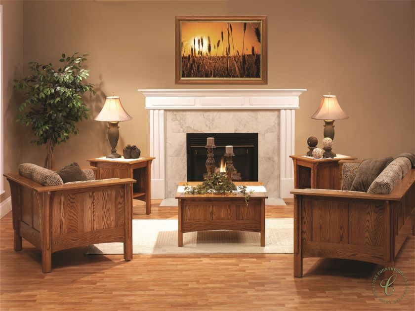 Colonial Cottage Living Room Set Countryside Amish Furniture Mission Style Living Room Mission Style Living Room Furniture Minimalist Living Room Mission style living room decorating