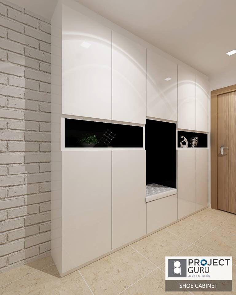Living Room Cabinet Design Singapore: Shoe Cabinet, Interior Design Living