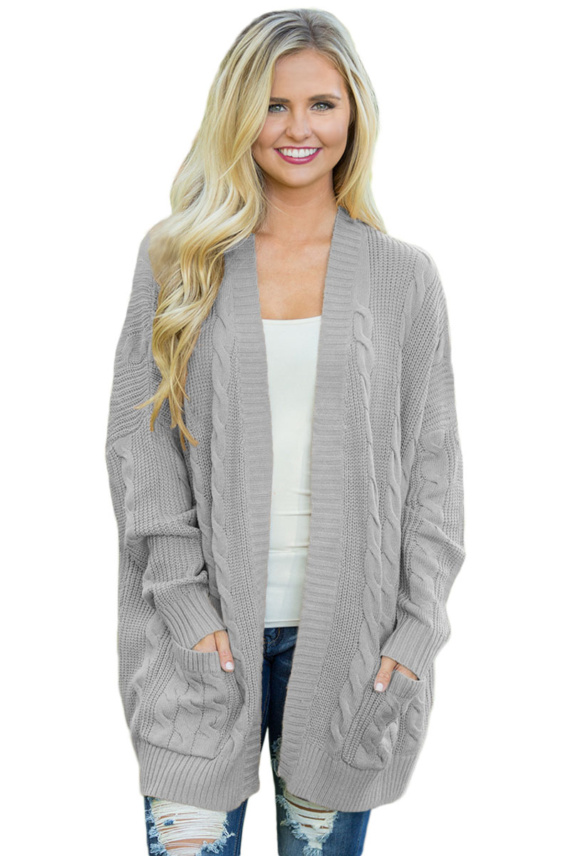 2f6bd421747 Gray Knit Texture Long Cardigan #style #fashion #boutiquefashion  #victoryroze #wearevictoryroze #ladiesfashion #dress #clothes #ootd #wwt  #sexy #sexyclothes ...
