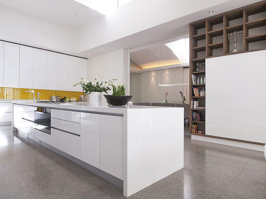 This Pure White Caesarstone kitchen is a finalist design ...