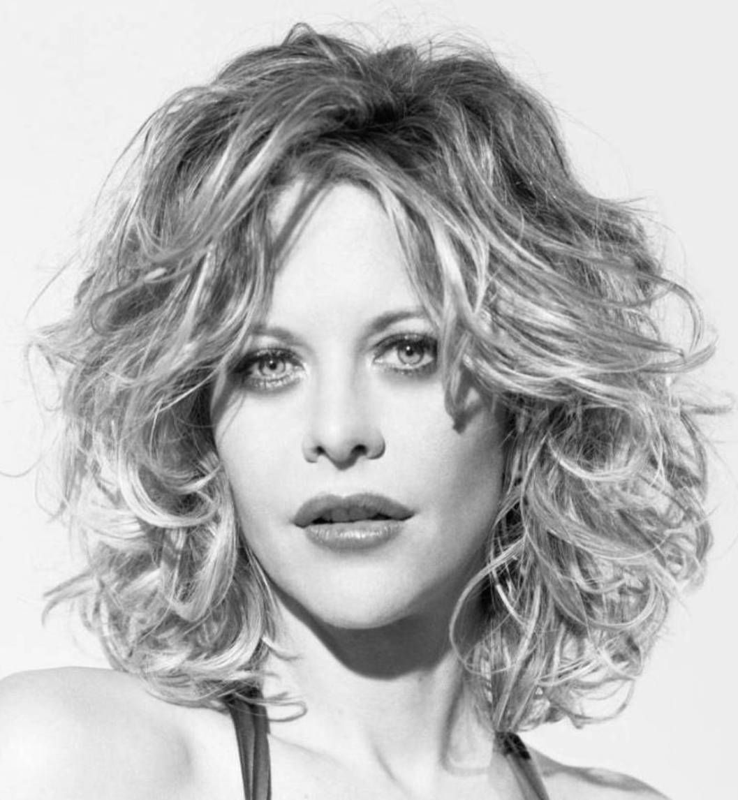 Medium Length Meg Ryan Hairstyles Beauty In Gray White Or - Silver hair styles
