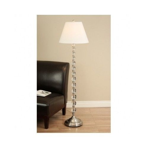 Modern Floor Lamp Contemporary Accent Orb Sphere Stacked Glass Balls
