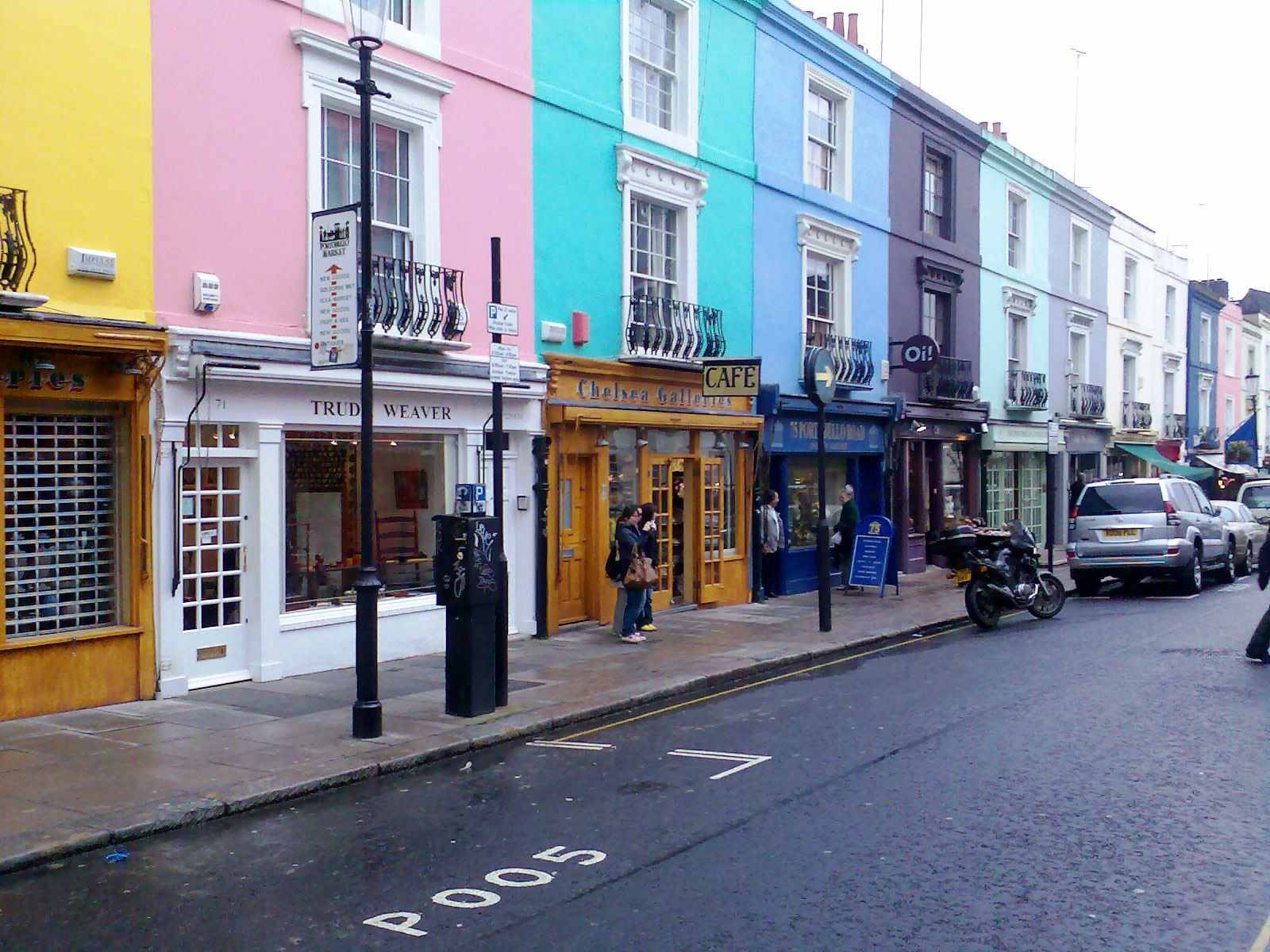colourful row houses of portobello road london loves pinterest destinations london. Black Bedroom Furniture Sets. Home Design Ideas