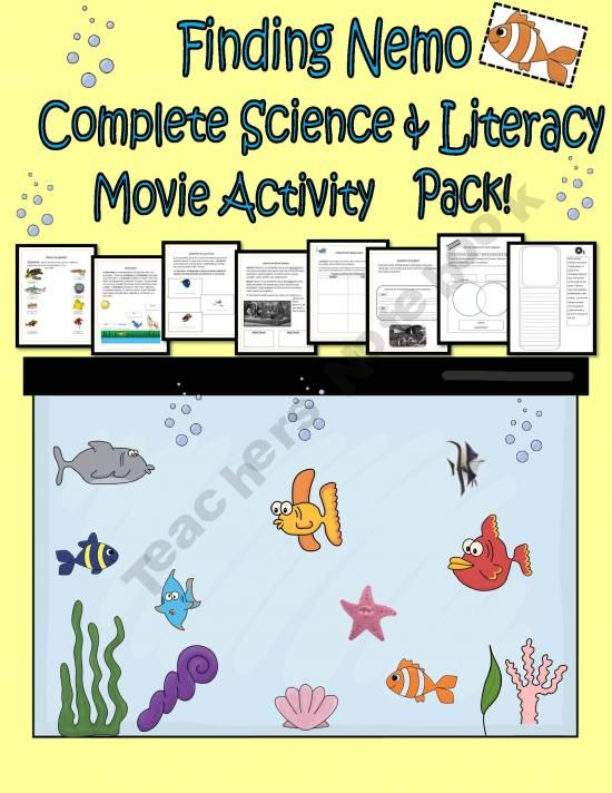 finding nemo complete science literacy movie activity pack braden and school things. Black Bedroom Furniture Sets. Home Design Ideas