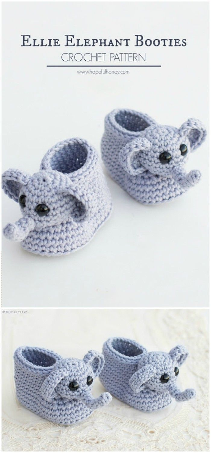 Ellie The Elephant Baby Booties | Hobiler | Pinterest | Zapatillas ...