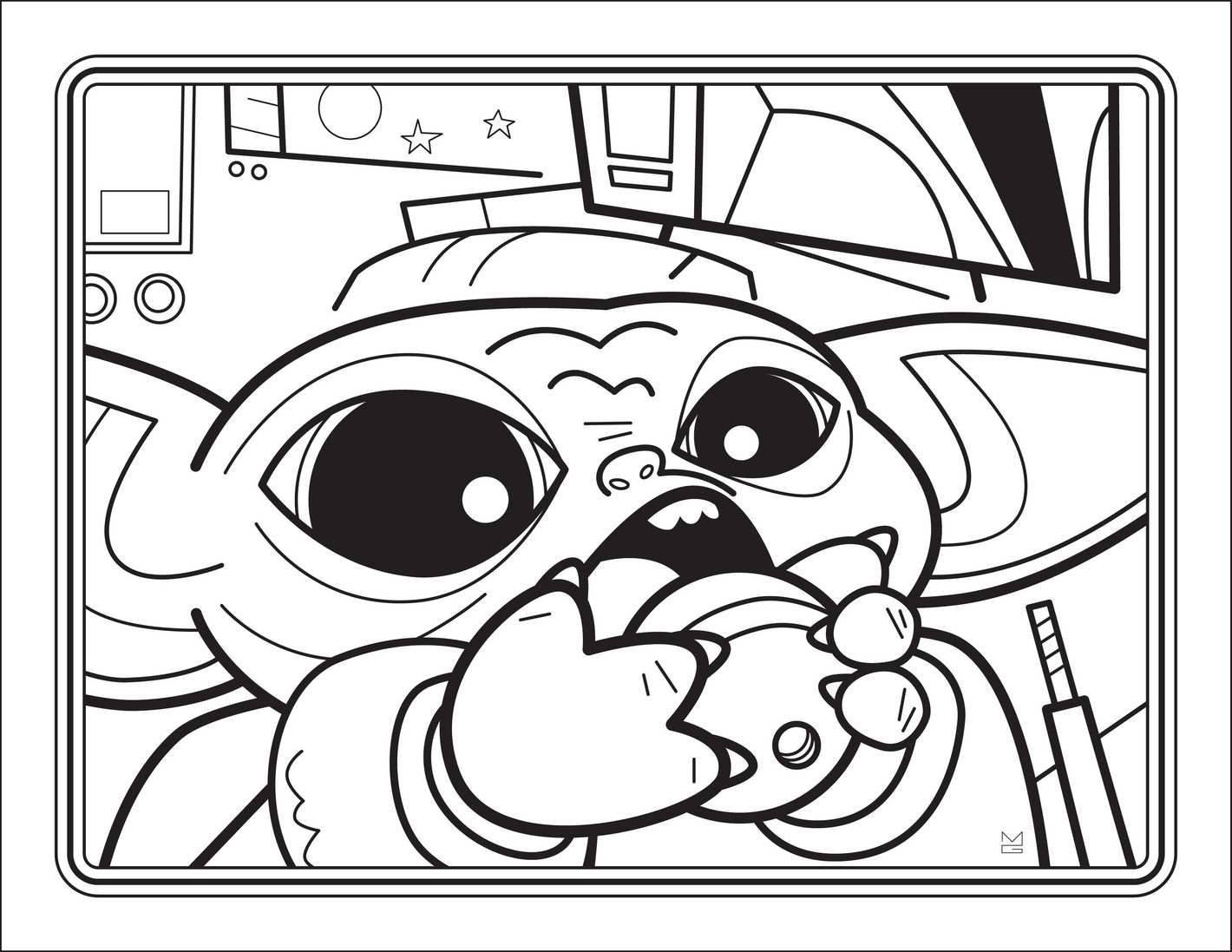 The Unofficial Baby Yoda Coloring Book in 2020 Baby