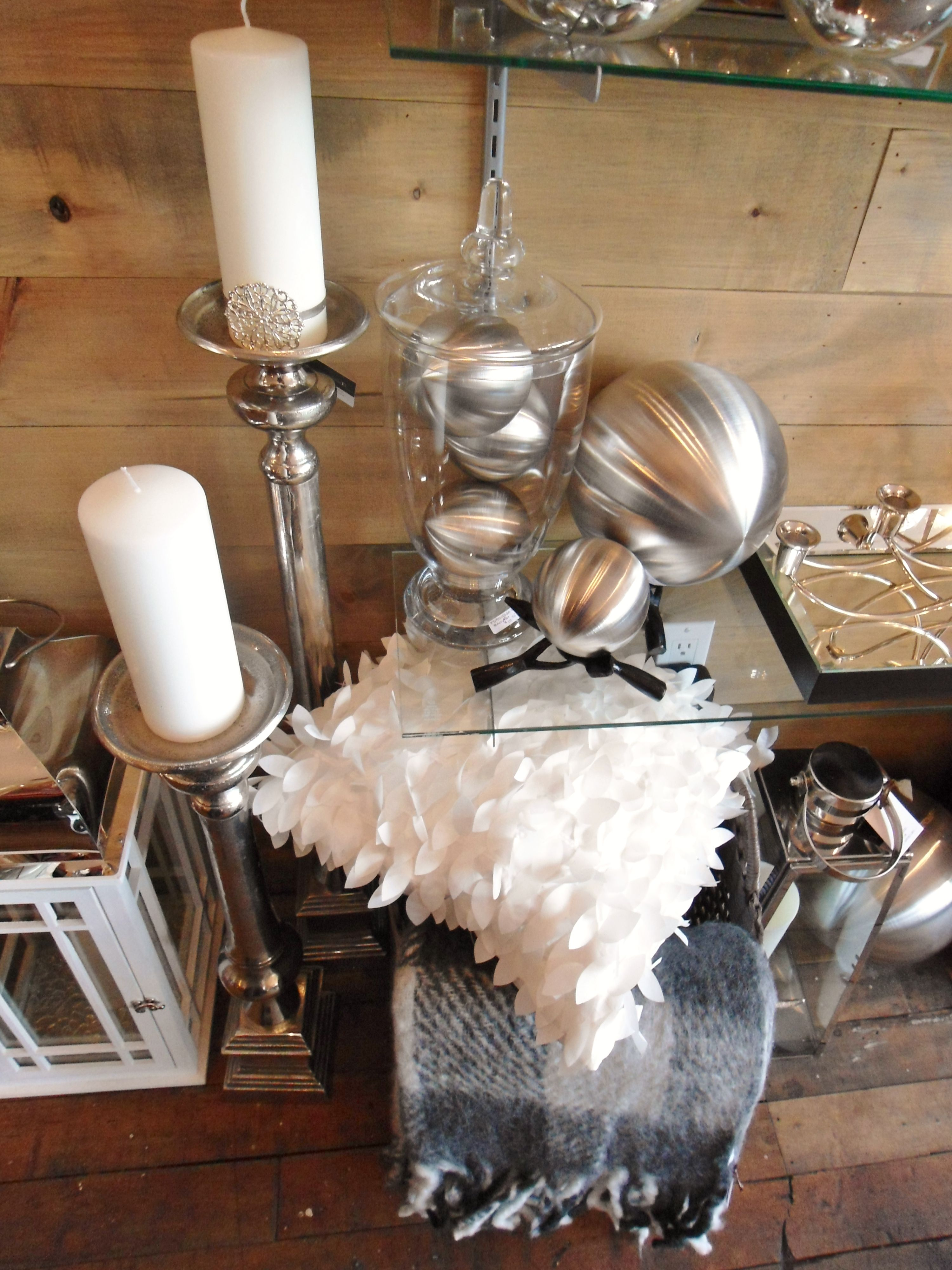 A white and silver collection from Louise's Cottage & Home