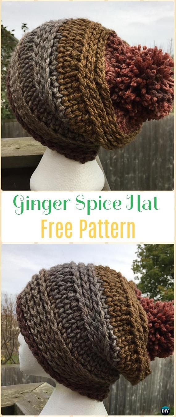 Crochet Ginger Spice Hat and Cowl Set Free Pattern - Crochet Beanie ...