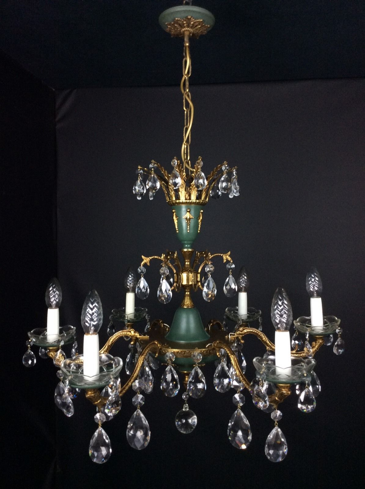 French Empire Crystal Chandeliers Candle Holders Candles Sticks Porta Velas Candy Candlesticks Lights