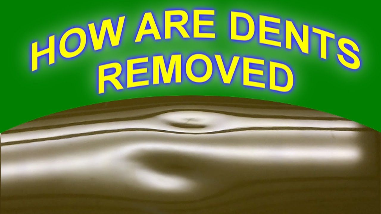 How Dents Are Removed From A Car Roof With Paintless Dent Repair Repair Dent Repair Repair Videos