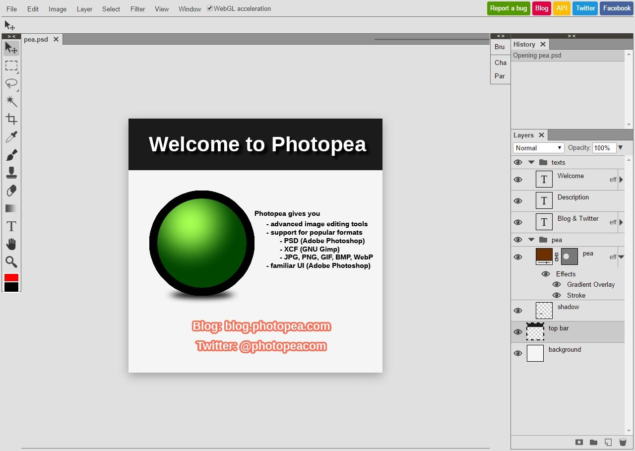 Editing PSD without