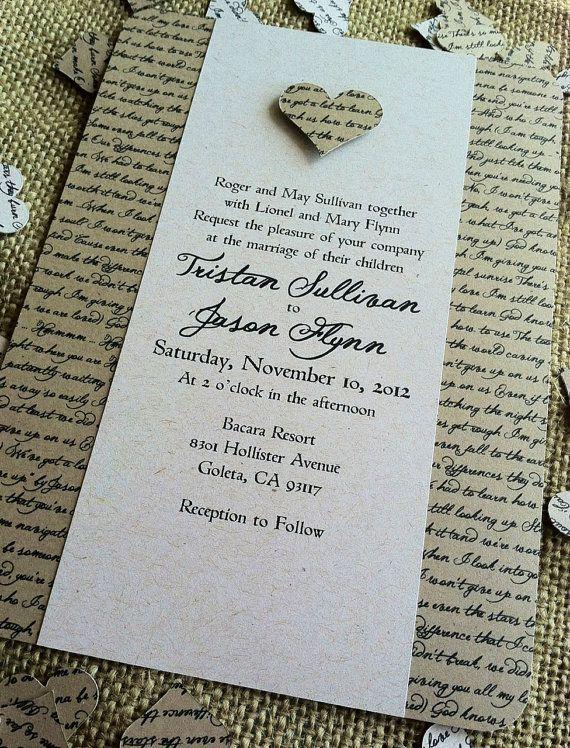 Rustic elegance wedding invitation option 500 to 750ea set for rustic elegance wedding invitation option 500 to 750ea set for diy version you stopboris Choice Image