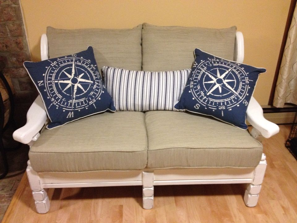 Old Wood Couch Makeover Using Chalk Paint After Pic Couch Makeover Sofa Makeover Wood Sofa