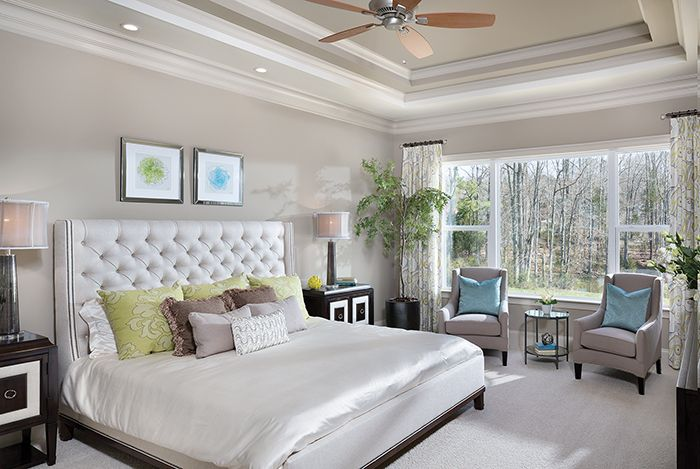 Model home master bedroom
