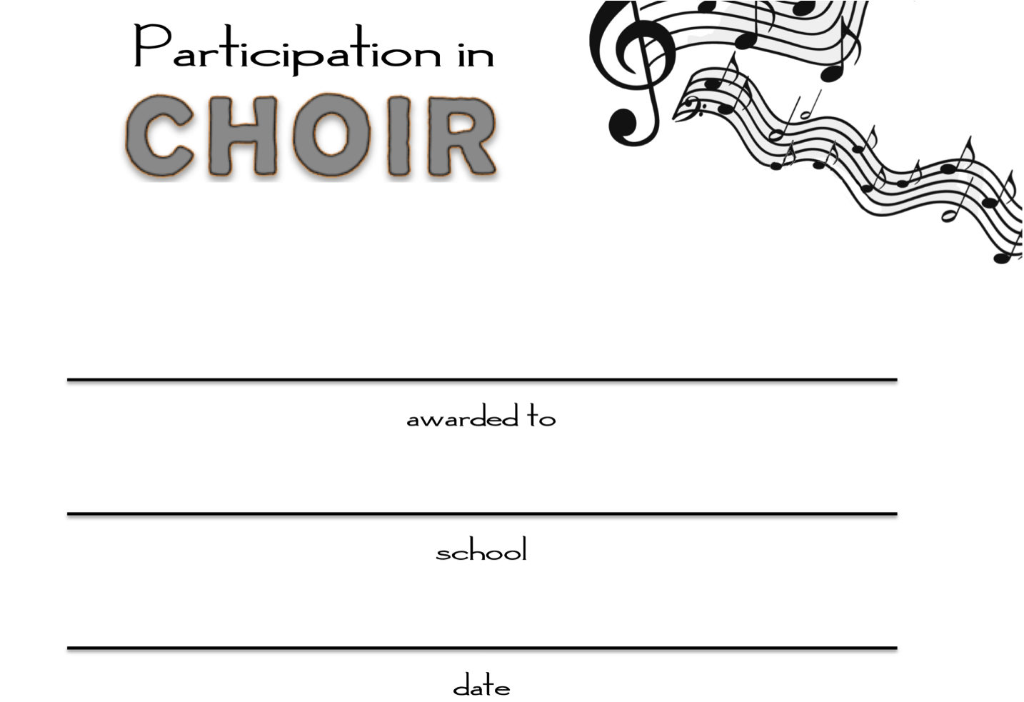 Choir participation awards where was this last spring choir music education choir participation awards where was this last spring yelopaper Gallery