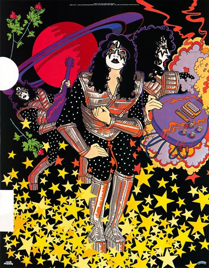 kiss ace frehley solo album poster album inserts and posters pinterest ace frehley comic. Black Bedroom Furniture Sets. Home Design Ideas