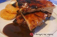 Spare Ribs με κινέζικη σως  spare ribs,alati,piperi,kremmydi,ketsap,ςορψεστερσηιρε,σογια σως,χαρουπομελο,μαυρη ζαχαρη,Sweet chilli sws,μουσταρδα σε σκονη,κρασι