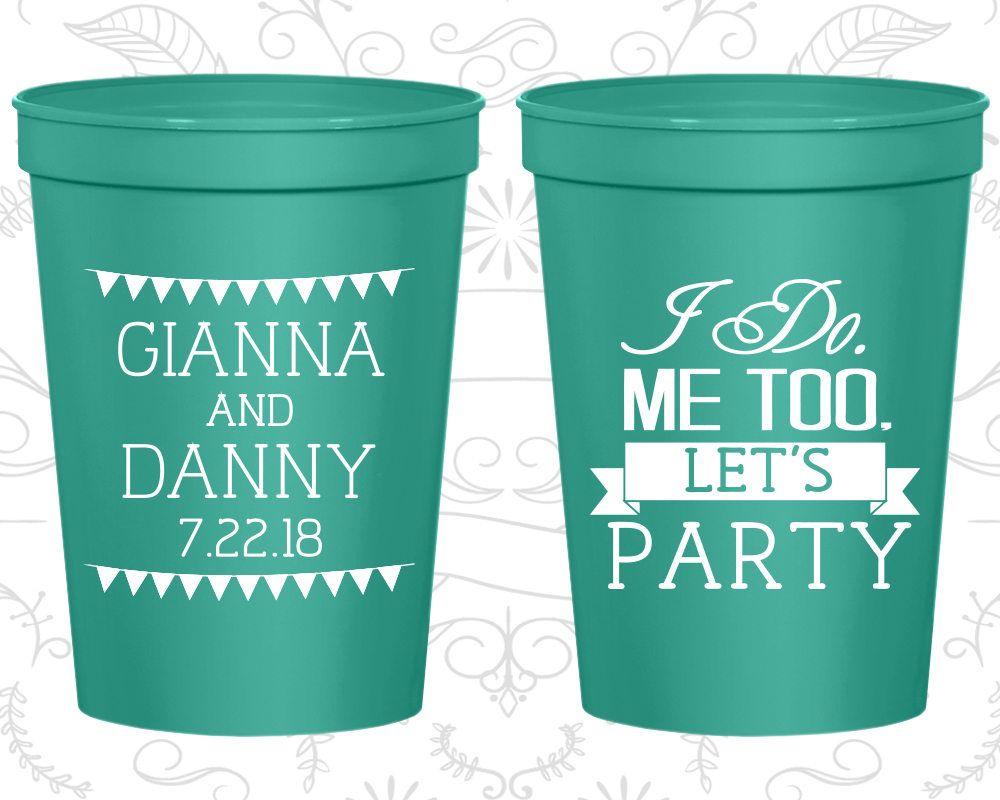 Personalized Plastic Cups Wedding Stadium Custom C363