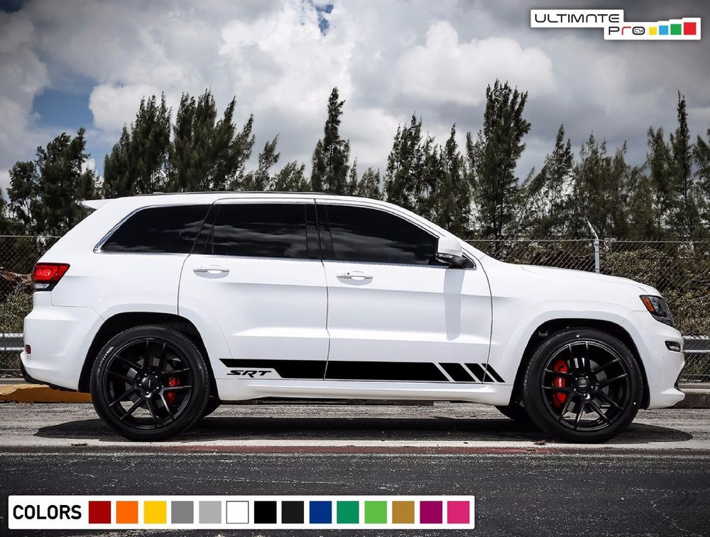 Sticker Decal Vinyl Side Door Stripes For Jeep Grand Cherokee 2011