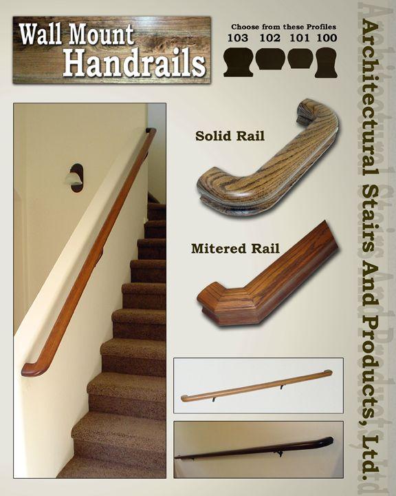 Wall Mount Handrails | Railings | Wall mounted handrail ...