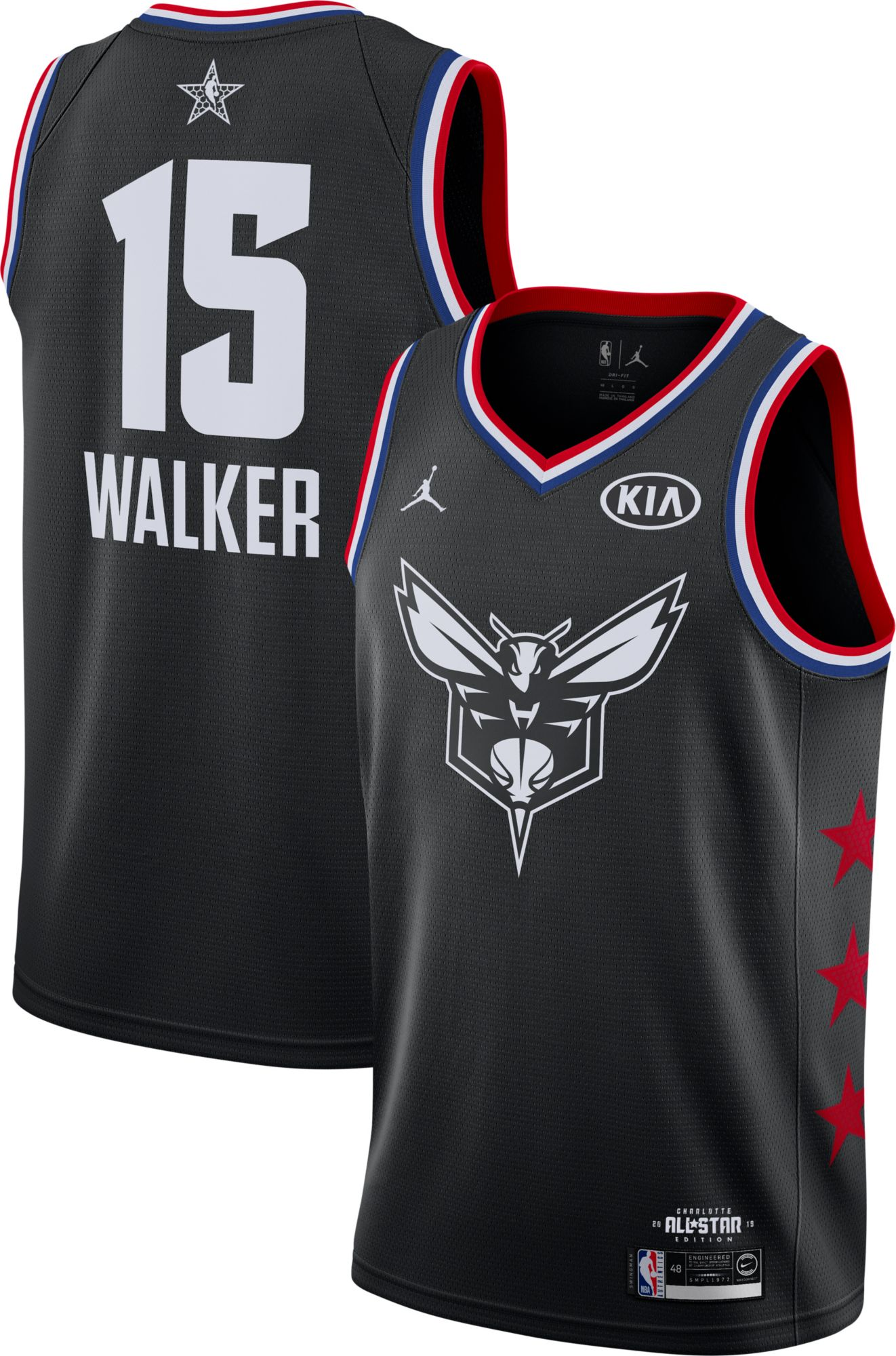 213c065f4ae8 Jordan Men s 2019 NBA All-Star Game Kemba Walker Black Dri-FIT Swingman  Jersey