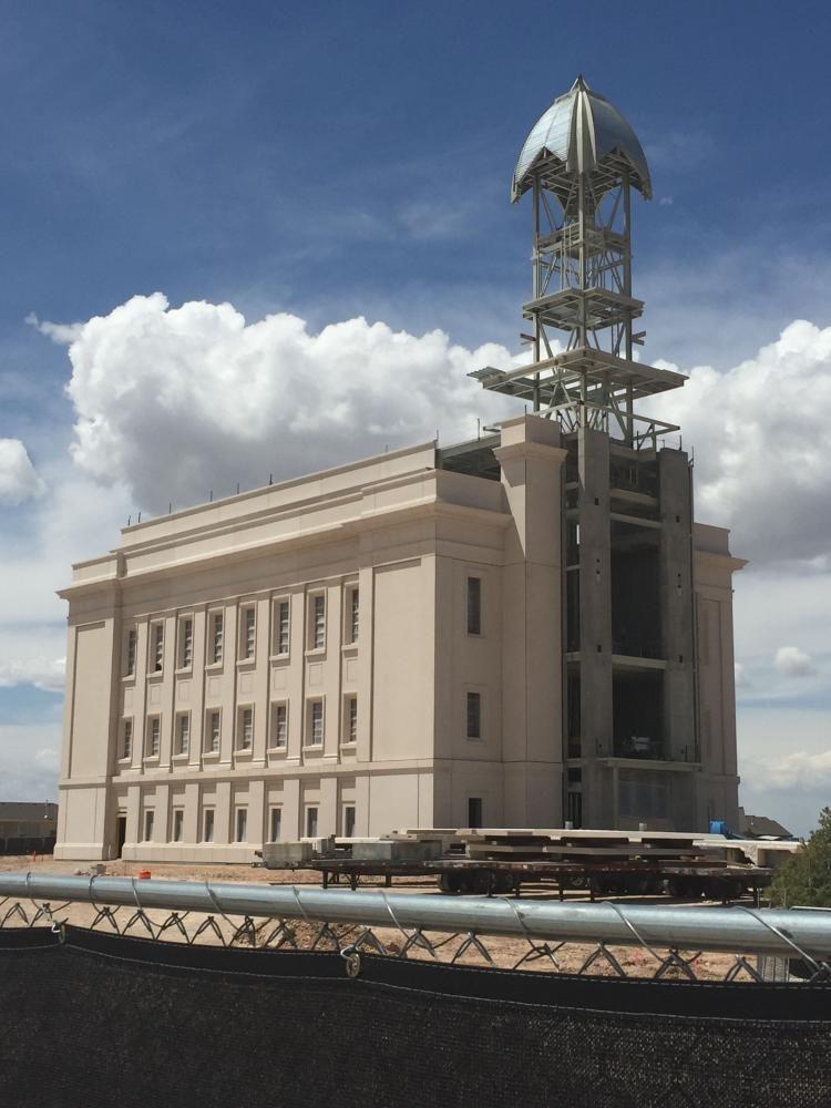 Cedar City Utah LDS (Mormon) Temple Construction Photographs