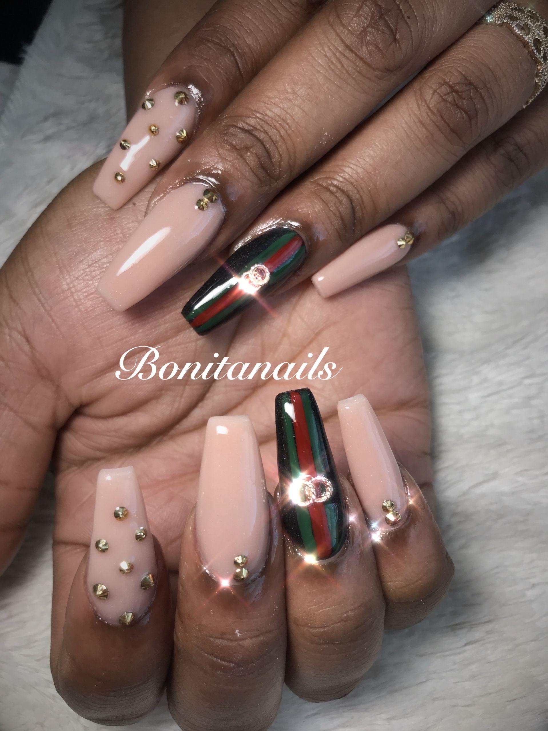 Gucci nails nude nails | 2018 Nails | Pinterest