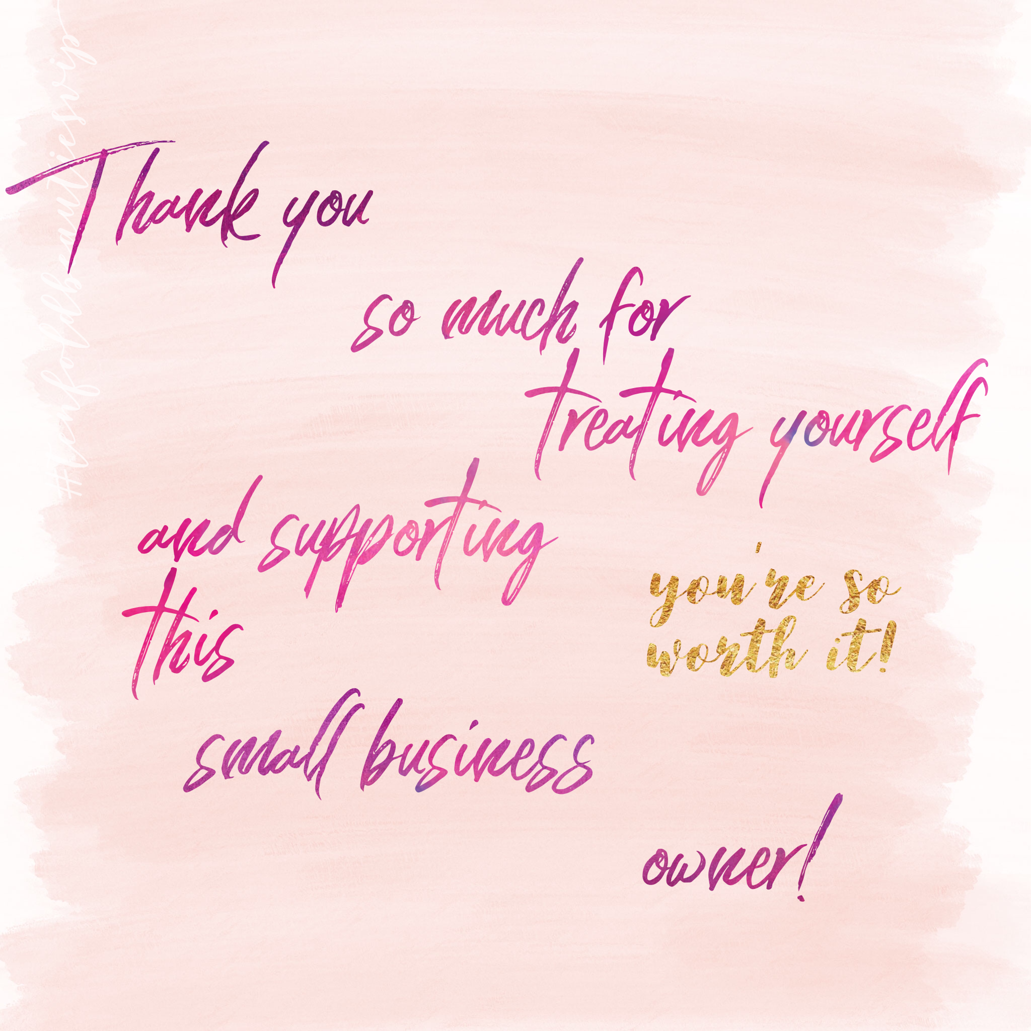 Thank You For Your Order Tenfoldbeauty Support Small Business