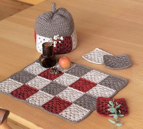 Ravelry: amicomo7-11 Tea Set pattern by Pierrot (Gosyo Co., Ltd)