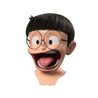 Download Kepala Nobita Emoji Photo Cute Cartoon Boy Doraemon Cartoon