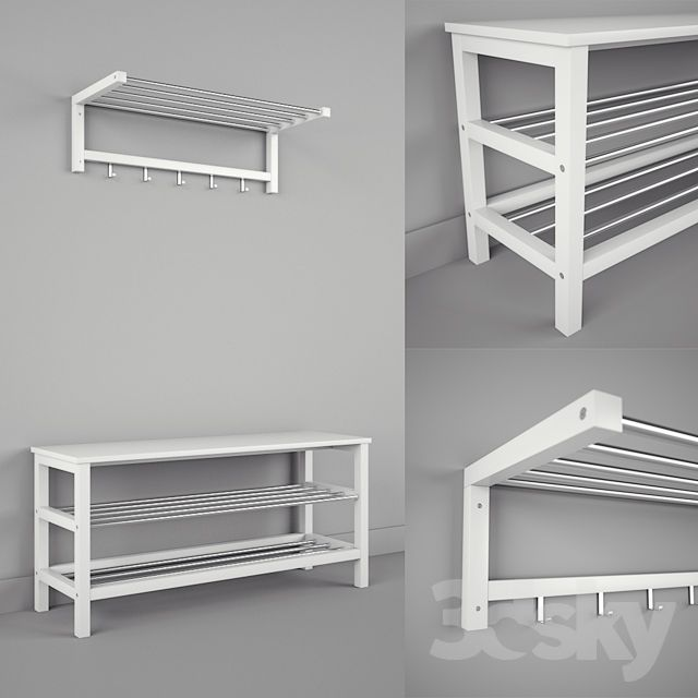 IKEA CHUSIG TJUSIG Bench and Shelf 3dsky Pinterest Bench, Shelves and Shoe rack