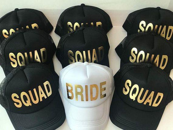 d6c654b0e340f Bride Squad Hats Bride Tribe Hats Bachelorette Party