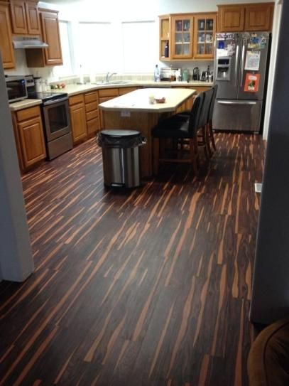 TrafficMASTER Allure 6 in  x 36 in  African Wood Dark Luxury Vinyl     TrafficMASTER Allure 6 in  x 36 in  African Wood Dark Luxury Vinyl Plank  Flooring  24 sq  ft    case  57111 0   The Home Depot